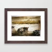 Istanbul In Yellow Framed Art Print