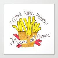 Comer Papas Fritas y Hacer el Amor Canvas Print