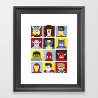 Felt Heroes Framed Art Print