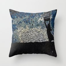 Free Bird  - Glass Mosaic Silhouette Throw Pillow