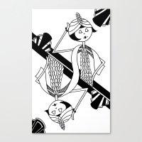 Playing card - King Canvas Print