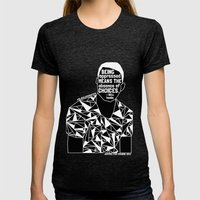Freddie Gray - Black Lives Matter - Series - Black Voices Womens Fitted Tee Tri-Black SMALL