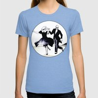 Skeleton Swing Womens Fitted Tee Tri-Blue SMALL