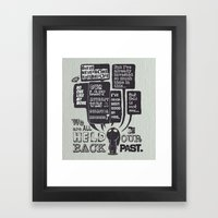 We Are Held Back By Our … Framed Art Print