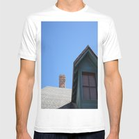 BLUE SKY Mens Fitted Tee White SMALL