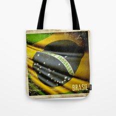 Sticker of Brazil flag Tote Bag