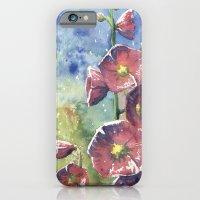 Hollyhocks - Pink Flowers iPhone 6 Slim Case
