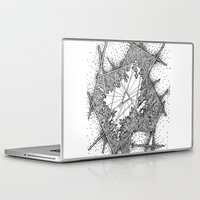 fractal Laptop & iPad Skins featuring Fractal by Abstract Al