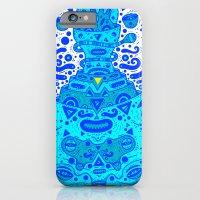 iPhone & iPod Case featuring igen igen blue by Cosmic Nuggets