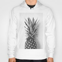 Black and white pineapple Hoody