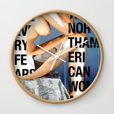 The North American Woman Wall Clock