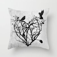 Under Construction (blac… Throw Pillow