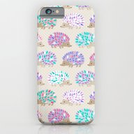 iPhone & iPod Case featuring Hedgehog Polkadot by Heleen Van Buul