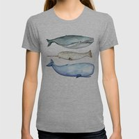 S'whale Womens Fitted Tee Athletic Grey SMALL