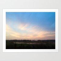 Sunset Drive By Art Print