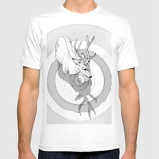 Cervidae White Mens Fitted Tee SMALL