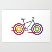 bike Art Prints featuring Bike! by Alice Wieckowska