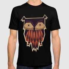 Owl Black Mens Fitted Tee SMALL
