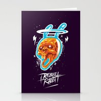 Electric Rabbit Stationery Cards