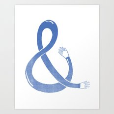Handpersand - Blue Art Print