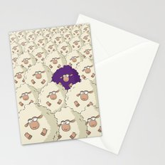 Sheep Pattern | Purple Stationery Cards