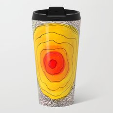 abstract sun flower Travel Mug