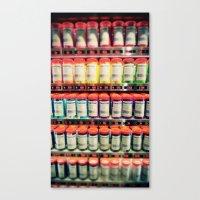 Pantone Shelf Canvas Print