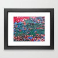 Chipping Paint Framed Art Print