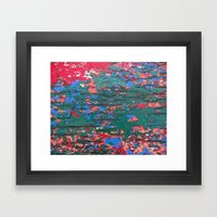 Chipping Paint Framed Art Print