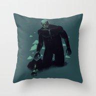 Shadow Of The Titan Throw Pillow