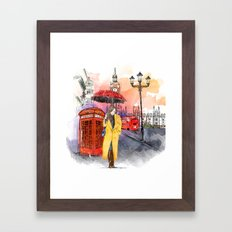 Meet Me in London Framed Art Print