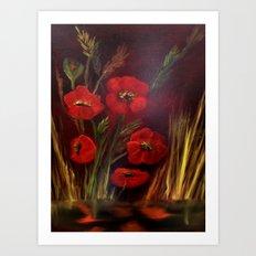 Poppy Power Art Print