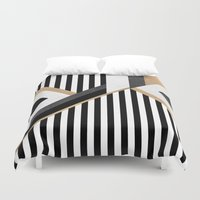 Stripe Combination Duvet Cover