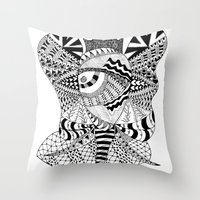 Elephant Butterfly Throw Pillow