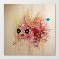 Outerspace Rock`n´Roll Unicorn Canvas Print