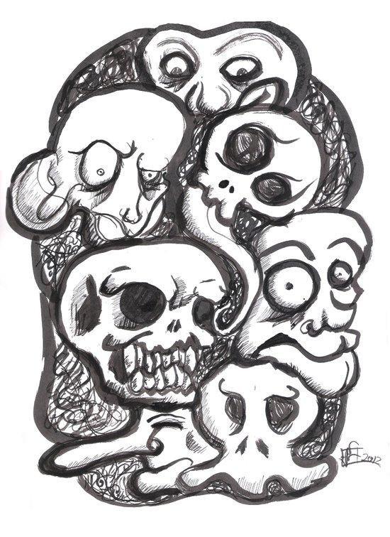 Weird Skecth  Art Print