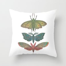 Saturn Moths Throw Pillow