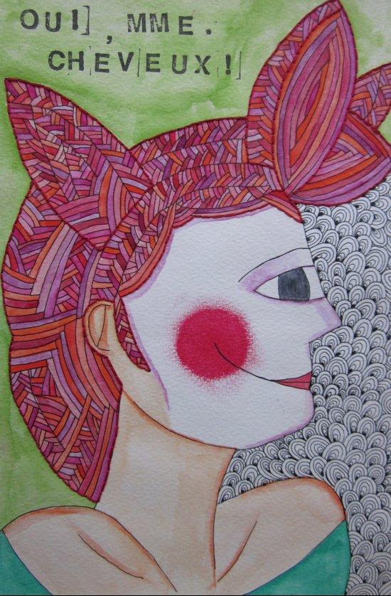 Mme. Cheveux Art Print