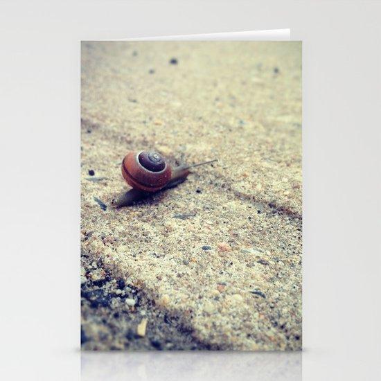 Snailing Around Stationery Card