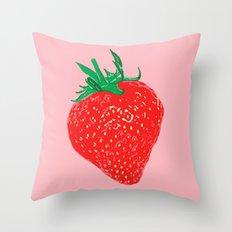 Strawberry, 2013. Throw Pillow