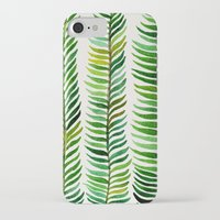 watercolor iPhone & iPod Cases featuring Seaweed by Cat Coquillette