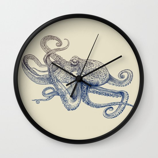 Octo Flow Wall Clock