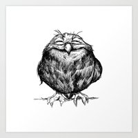Owl Ball Art Print