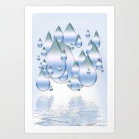 Rain Drops Art Print