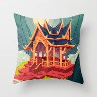 Air Temple Throw Pillow