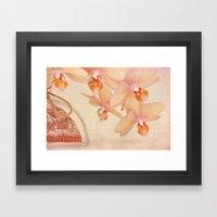 Orchid Falls Framed Art Print