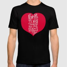 In a Heartbeat Mens Fitted Tee Black SMALL