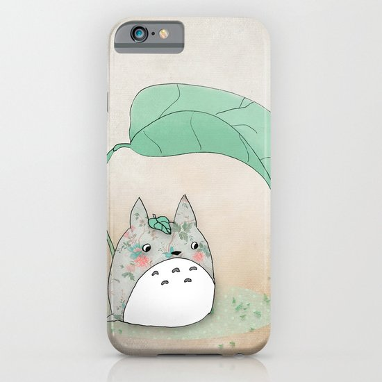Floral Totoro iPhone & iPod Case