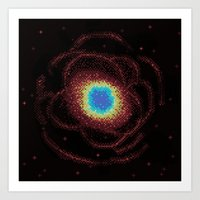 Ring Galaxy (8bit) Art Print