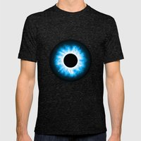 Total Eclipse Of The Eye Mens Fitted Tee Tri-Black SMALL